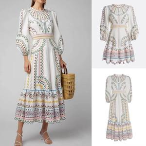 2020 ZIMM neuestes hochwertiger Hofstil Farbe Positionierung bestickt Taille Temperament Kleid (lang und kurz Modelle)