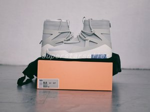 Cheap Air Fear of God 1 Mens Shoes FOG Boots Light Bone basketball Shoes Sports Zoom fashion luxury Designer Sneakers Size 12