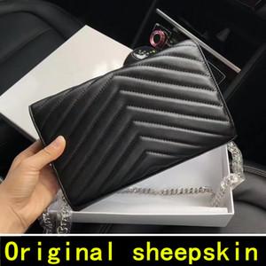 2020 Original-Schaffell Designer-Handtaschen hochwertiger Luxus-Handtaschen Berühmte Marken-Frauenbeutel echte Leder-Schlag-Abdeckung Schultertaschen
