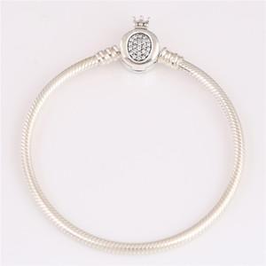 Reale Bracciale in argento 925 braccialetto 598286CZ Fit Pandoras dei monili di stile DIY charms e perline 10pcs / lot Potete mescolare il formato libera la nave