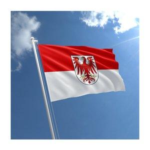 150x90cm 3x5ft Drapeau de Brandebourg Faites vos propres drapeaux, Sports Festival Utilisation Extérieur Intérieur, Livraison gratuite