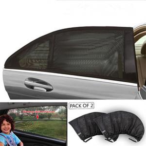 Car-Styling Car Sun Shade Window Cover Pare-soleil Rideau UV Protection Bouclier Visière Maille Dust Car Window Fenêtre Vente Chaude