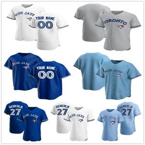 2020 Новые пользовательские мужчины женщины дети молодости 27 Герреро-младший Джастин 14 Smoak Kendrys 8 Morales Aaron 41 Sanchez сшитые бейсбольные майки