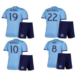 NIÑOS 2019/2020 NUEVA YORK CITY ANILLO DE MORALEZ PERSONALIZADO kits de uniformes de fútbol camisetas de fútbol calidad tailandesa calidad de tailandia camisetas de fútbol