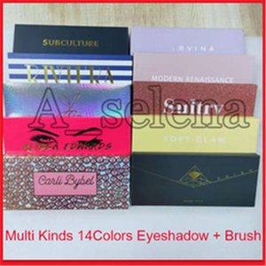 2020 Tipos Famoso multi 14 cores da paleta da sombra + escova macia Clam sensual Mordern Prism Bybel Alyssa Beverly Riviera Subcultura
