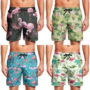 Men's swimming trunks Flamingo print running beach board shorts best flamingo life Beautiful Pattern Lovers Pink Wallpaper Crazy Art and