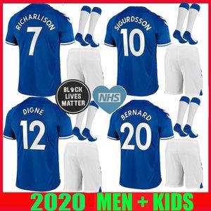 ADULT KIT 20 21 Richarlison soccer Jerseys home away BERNARD 2019 2020 SIGURDSSON DIGNE CENK TOSUN ANDRE GOMES MEN kids KIT FOOTBALL SHIRT