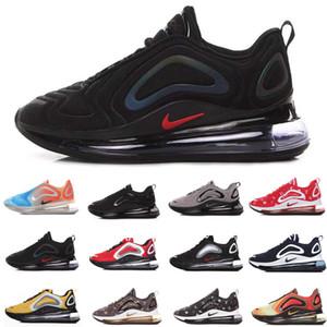 Nike Air Max 720 airmax 72c Calzado de running Hombre Mujer 2019 La mejor calidad Negro Blanco Desierto Rosa Mar Zapatos deportivos Zapatillas de deporte de diseño Zapatillas