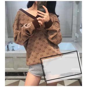 2019 г женские кофты пуловер GG письмо осень и зима качество вязание блузки свитер женский фабричный сделал