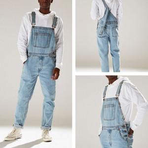 Luce Mens Designer tuta jeans a vita alta blu Nuovi pantaloni di modo Pantaloni Lunghi Jeans per gli uomini S-XXXL