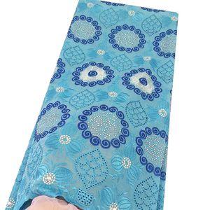 Tessuto Voile Svizzera Swiss Materiale Cotone Lace Blue Sky Donna Africana tessuto del merletto Crema Dubai Ultimi africani Laces 2019