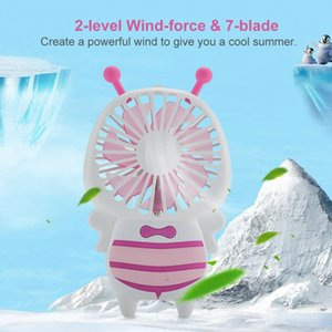 Baby Bee Small Fan Portable Handheld Electric Fan Mini Utral-thin USB Colorful Nightlight With Strong Wind