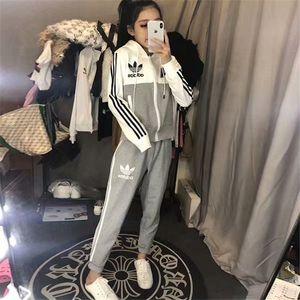 Ms speed sell tong costume d'automne et d'hiver 2019 polaire costume en molleton imprimé deux pièces + pantalon de loisirs