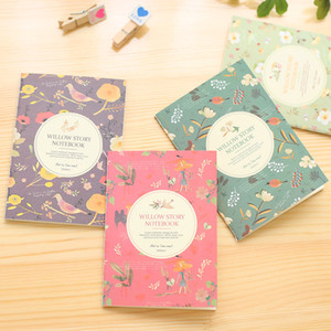 Cute Floral Bird Pattern Mini Notebook Flower Small Note Book Travel Pocket Stationery for Cheap promotion Gift