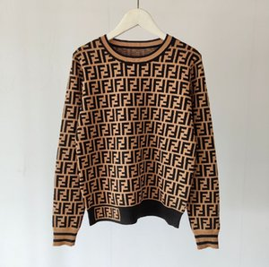 2020 printemps nouveau pull femme O-cou à manches longues pull-over en laine pull dame de bureau chemise de tricot de mode OL Tricots