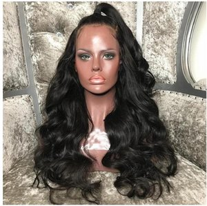 Natural Black Kinky Curly Wigs with Baby Hair Heat Resistant Glueless Synthetic Lace Front Wigs for Black Women Free Shipping