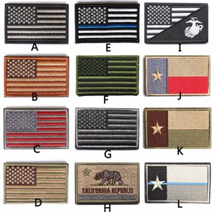 Military Patches Gestickte USA dünne blaue Linie deniz kolluk Strafverfolgungs Texas Lonely Star Marine Corps Black Ops Flag Patch