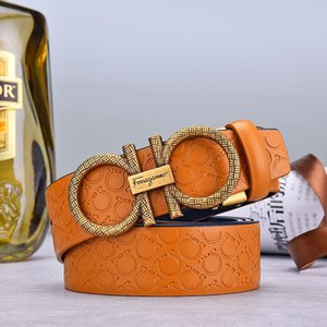 New Fashion Designer belts Mens Business Belts Luxury belt Ceinture Smooth buckle Genuine Leather Belts For Men Waist Belt Free Shipping