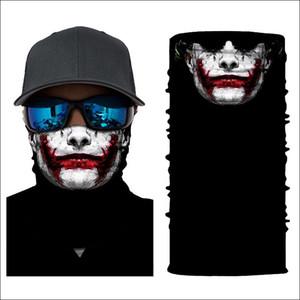 Tubo 3D sin fisuras de múltiples funciones mágica del vampiro del cráneo del demonio fantasma Cubierta del Protector de la cara de la venda del pañuelo de Headwear anillo bufanda Hombre Nueva