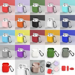 For Apple AirPods 2 Earphone Cases With Hook Cover For Air Pods 1 Pod Wireless Bluetooth Charging Box