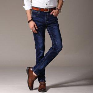 Odinokov Marka 2017 Erkek Stretch Jeans Yaz Hafif İnce Denim Siyah Mavi Slim Fit Elbise Jeans