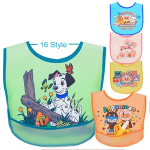 Baby Bibs Pocket Waterproof Disposable PU Lunch Clown Dog Pattern Saliva Burp Cloth Infant Toddler Bandana Bavoirs Feeding Apron