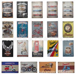 Pintura metálica Placas de lata Coleção Wall Art RetroTIN sinal velho Metal Wall Art Painting Bar Cave Man Pub Restaurant Decoração XD21409