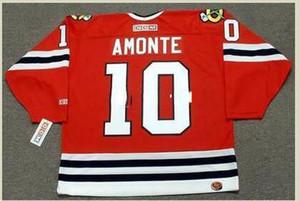 Mens #10 TONY AMONTE Chicago Blackhawks 2001 CCM Retro Hockey Jersey или custom любое имя или номер ретро Джерси