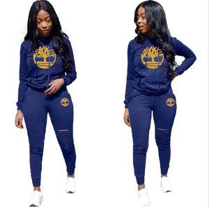 Feitong para mujer de la marca 2 PC chándales Conjunto de señoras carta Joggers activo Deporte de la blusa Tops Pantalones Conjuntos 2020 nueva llegada