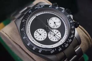 orologio PVD nero funzione cronografo Mens orologio spazzata Designer Guarda 42 millimetri Edizione limitata di personalizzazione privato movimento Bamford VK al quarzo
