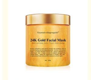 Facciale Maschera di Grystal dell'oro del collageno donna 24K collagene Peel Off facciale Face Mask idratazione della pelle Rassodante