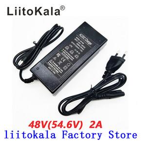 LiitoKala 48V 2A cargador 13S 18650 cargador de 54.6v 2a constante presión constante actual está lleno de auto-stop