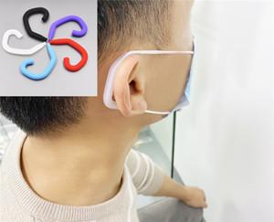 Yüz için 100 Adet Yumuşak Silikon Koruyucu Kulak Kancalar Earbud Aksesuarlar Sport Kulaklık Sızdırmazlık Kulak Koruma Protect Tools Running Maske