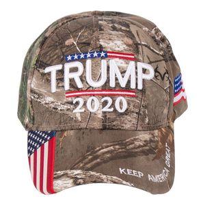 Camouflage Trump Baseball Hat ricamo Trumps 2020 Keep America Great Hats Fashion Nuovo modello Cap Hot Selling 2019 19zg J1