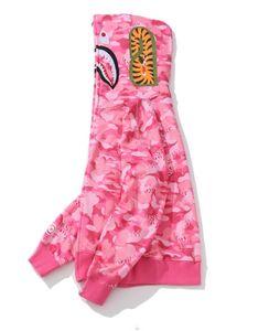 New Fashion Mens Shark Hoodies Sudaderas Adolescente Azul Pink Cam MA1 Vuelo Male Tide Shark Hoodie Hip Hop Hombre Parejas Chaquetas con capucha