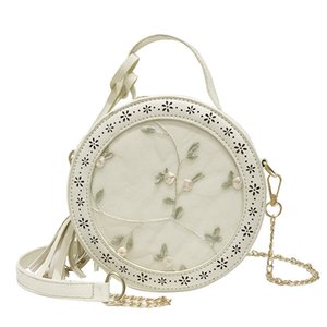 Nice2019 Chain Bag Mini- Lace Flower Tassels Small Circle Hand Bill Of Lading Shoulder Messenger Woman Package