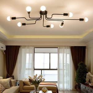 Support Drop Shipping ! Modern 4 6 8 Lights Semi Flush Mount Ceiling Light Lamp Fixture with 4 6 8 Bulb Sockets, E27, No Bulbs