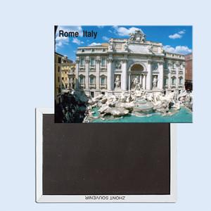 Travel Refrigerator Magnets 78*54mm,Trevi Fountain, Rome, Italy Travel Rigid Fridge Magnets 24966