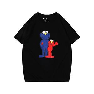 Rue Sésame KAWS X SESAME STREET L série T joint marque Tide T-shirt à manches courtes Articulé Nom Designer Bra Hotest vendeur