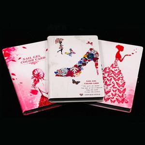 Newest 80 120 160 Colors Nail Art Salon Set With Full Nail Tips Nail Gel Display Card Book Chart