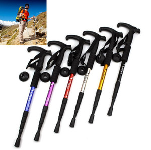 Unisex Bastoni Trekking bastoni da passeggio pieghevole Bastone da trekking Alpenstock-Leggero Escursionismo Sticks 50-110CM regolabile Canes Stampelle Camping