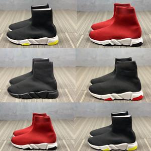 Infantil Crianças Juventude Homens Mulheres tênis Sock malha Plano Sneakers velocidade corredores esporte sapatos criança menino menina instrutor stretch-knit