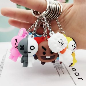 PVC de alta qualidade dos desenhos animados Bts 3D macio Keychain animal Promoção presente Opp saco de embalagem individualmente Livre Escolha