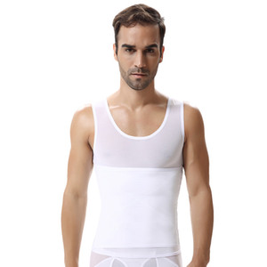 Mens Sexy Belly Waist Hot Shapewear Slim Abdomen Shaper Underhirt Sudor Chaleco Corset Compresión Estiramiento Tummy Cintura Trainer Top