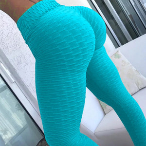 13 Colori Donne Pantaloni Yoga Hot Yoga Bianco Leggings Sport Push Up Tights Gym Esercizio Aspetto Gym Elevato Fitness Fitness Running Pantaloni atletici