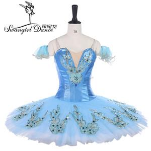 Взрослый классический балетная пачка синий блин блюдо пачка костюм конкурс производительности профессиональные пачки балерина платье BT9142