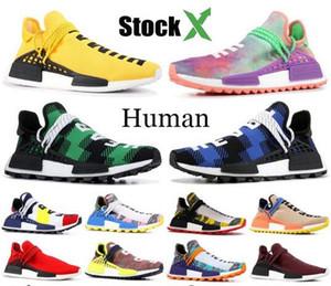 Черный Nerd человеческой расы NMD Pharrell Williams Yellow BBC Green Plaid Мир Дизайнерская обувь ВС Glow Ху Холи мужские Женщины кроссовки 36-46