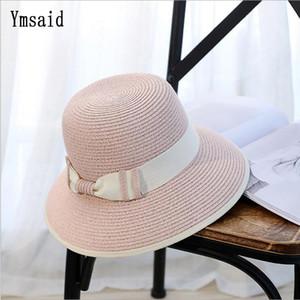 2018 Yeni Yay büyü renk kadın şapka yaz Moda Kap Kadın Güneş Şapka ilmek ile Katlanabilir Kadınlar Hasır Şapka sombrero de la playa