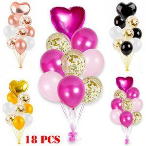 2020 HOT 18PCS Aluminium Foil Palloncini buon compleanno festa di nozze Decorazione di Natale palloncino Bambini Air Balls Globos