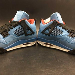 4 zapatos de baloncesto 4s Liquidación KAWS Graffiti Diseñador Limited deporte atlético azul zapatillas de deporte al aire libre Formadores doble en caja 13I6U